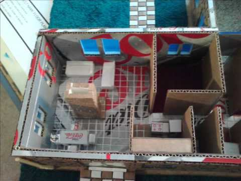 Model house made with recycle material youtube for Making hut with waste material