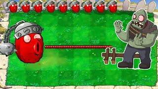 1 Cactus Pea vs Giga Gargantuar vs Gargantuar