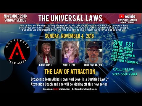 11-04-2018 S01E11 BTA Sunday Show - November 4 2018 - Universal Laws - The Law of Attraction