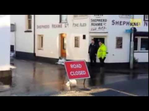 Emergency crews deal with flooding in Canterbury