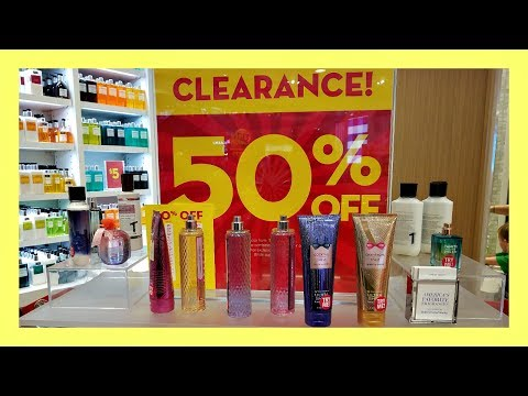 Semi Annual SALE!!  SHOPPING At Bath And Body Works 2017