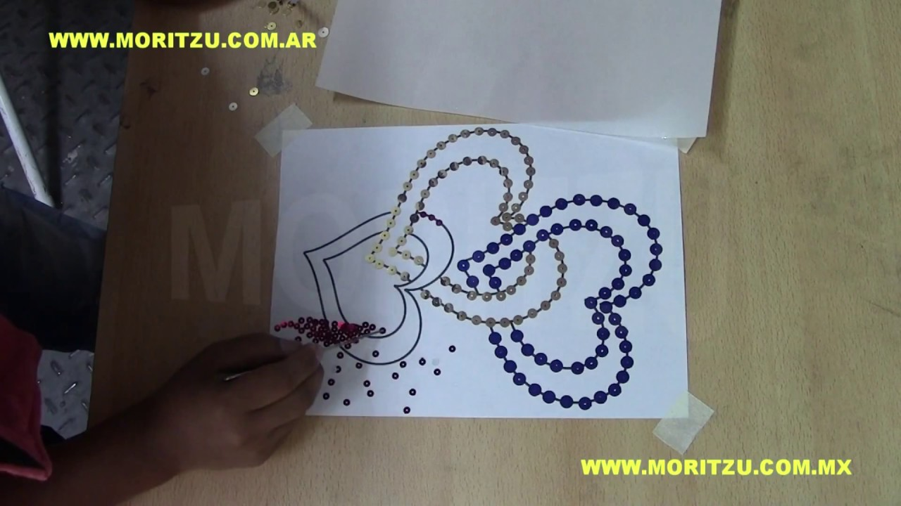 Decoracion Con Lentejuelas Termotransferibles Moritzu Youtube