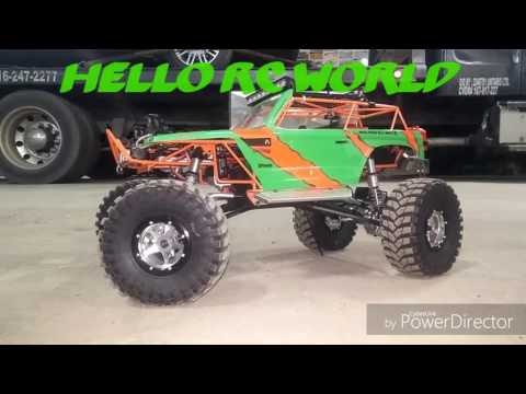 New BoomRacing axles on project Axial Wraith 4 Wheel-Steering