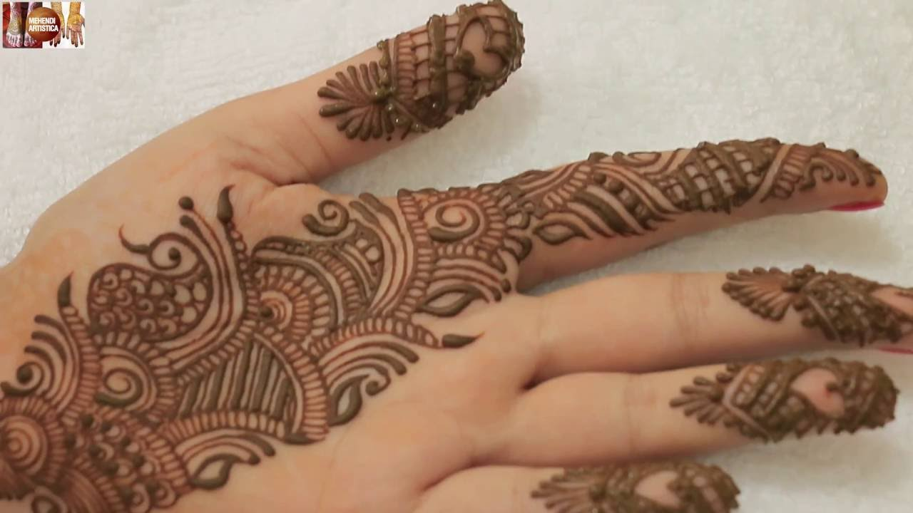 Mehndi Designs For Palm : Easy simple beautiful indo arabic mehndi design for palm learn