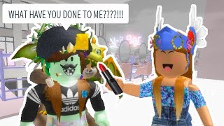 GIVING MY BEST FRIEND A NEW MAKEOVER IN ROBLOX!!