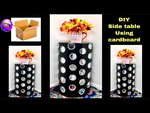 DIY side table using cardboard | Home decorating ideas | Fashion pixies | Diy room decor