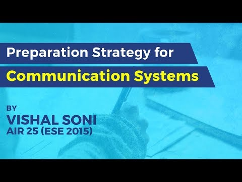 Preparation Strategy For Communication Systems | GATE And ESE (ECE) 2019