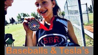 Baseball Champions and a Tesla Meet Up