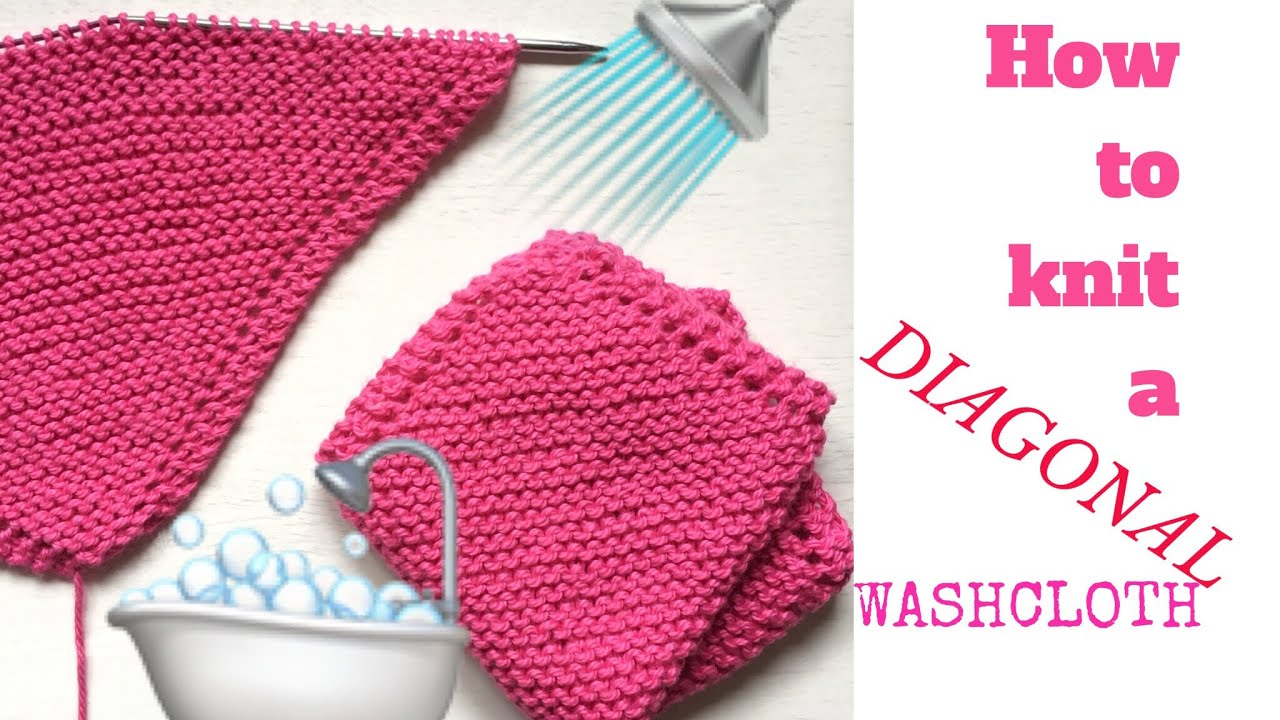 How to knit a WASHCLOTH, very easy | TeoMakes - YouTube