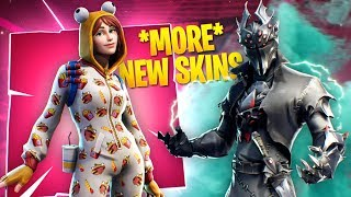 The *NEW* Black Knight, Durr Burger Onesie and MORE FORTNITE SKINS!