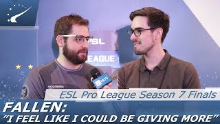 "FalleN: ""I feel like I could be giving more"" - EPL S7 Finals"