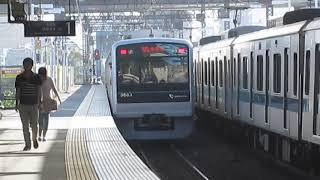 小田急電鉄3000形 3663F 厚木駅入線~発車