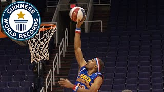 Most Basketball Slam Dunks in One Minute - Guinness World Records