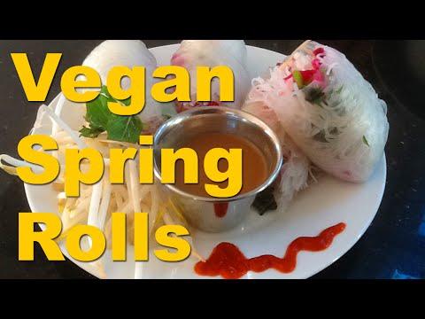 Vegan Vietnamese Spring Rolls w Low Fat Peanut Sauce - RawTill4