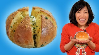 Baking 6-Sided Garlic Buns From SCRATCH - Korean Street Food at Home #withme