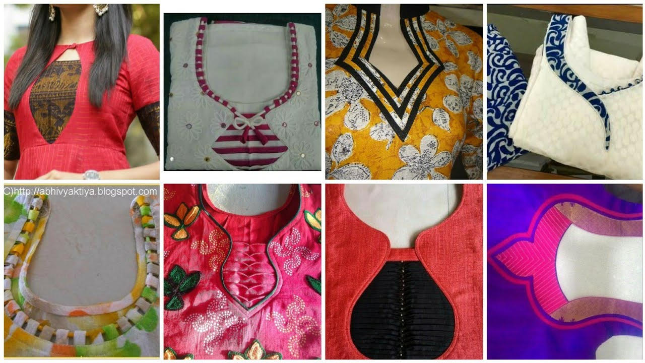 60 Neck Designs For Salwar Suit Kurtis Latest Neck Designs For Suits Youtube