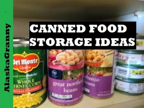 Canned food storage ideas youtube for Can good storage ideas