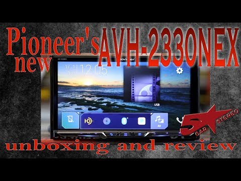 Pioneer's new AVH 2330NEW unboxing and review