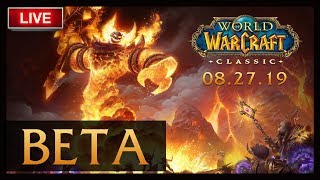🔴LIVE:  MY FIRST STEPS INTO THE CLASSIC WOW BETA