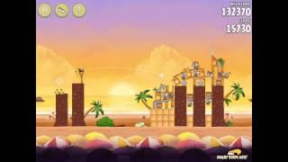 Angry Birds Rio Cherry #1 Walkthrough Golden Beachball Level 1