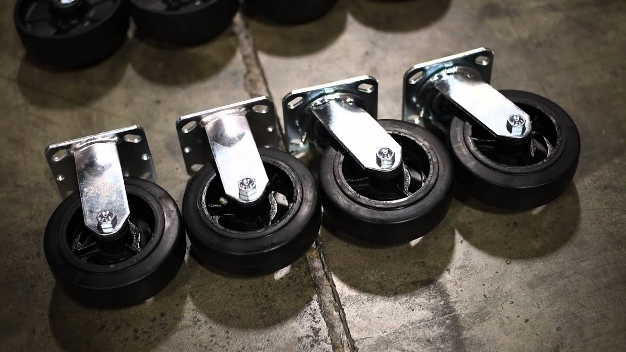 Rubber Iron Caster Wheels Your Caster Connection