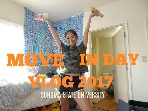 COLLEGE MOVE-IN DAY VLOG 2017 | Sonoma State University | Llieda Seno