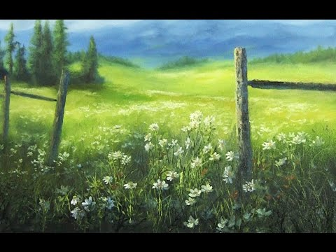 Flower Meadow | Paint with Kevin Hill art