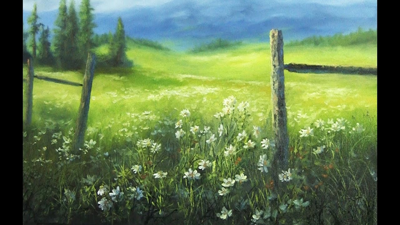 Flower Meadow Paint With Kevin Hill Art Youtube