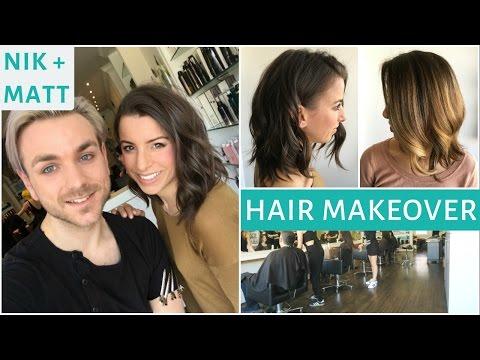 BALAYAGE & CUT HAIR MAKEOVER  | NIK + MATT VLOG 10