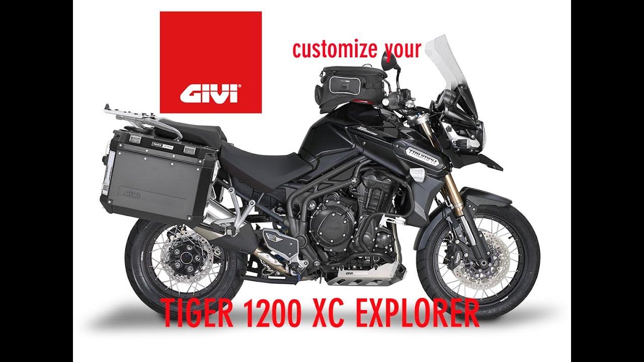 triumph tiger explorer xc1200 - givi accessories - youtube