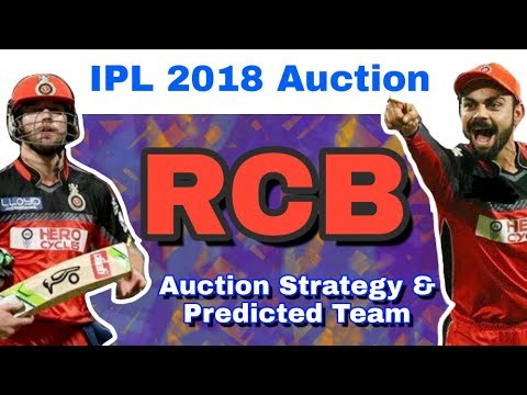 IPL 2018 Auction : RCB - Auction Strategy & Predicted Team | Royal Challengers Bangalore