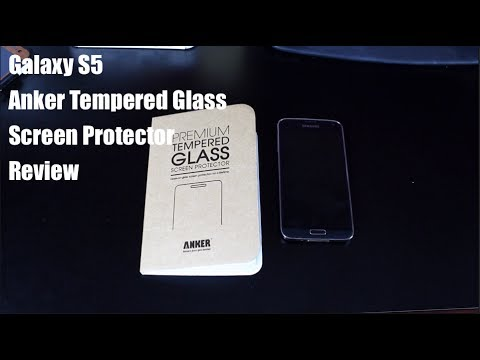 Galaxy S5 Anker Tempered Glass Screen Protector Install and [FULL REVIEW]