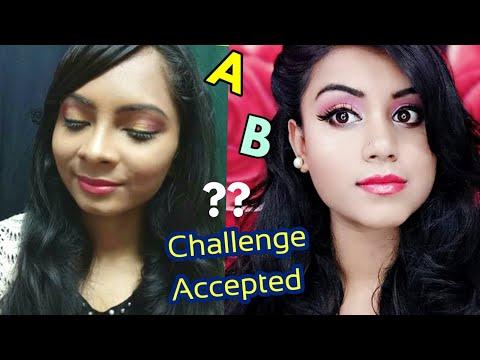 Trying ALPHABETICAL MAKEUP CHALLENGE by NIKKIE TUTORIALS ft. Makeup Believers  (lovebeautybee) thumbnail