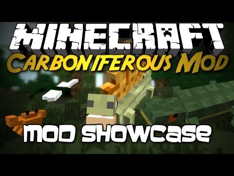 Minecraft Mod Showcase: Carboniferous Mod! [OVER 8 NEW MOBS, 7 NEW BIOMES, GO BACK IN TIME!]
