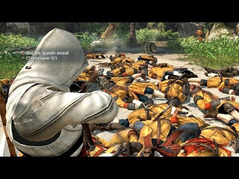 Assassin's Creed 4 Brutal Battle Longest Fight In AC4 Histor