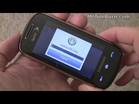 Samsung Instinct S30 for Sprint - part 1 of 3