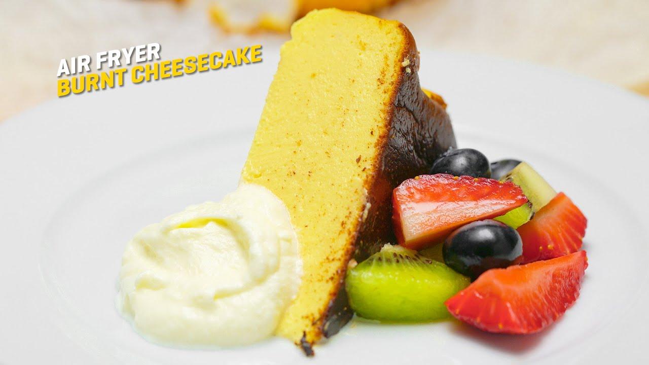 Resepi Air Fryer Burnt Cheesecake