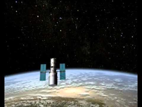 The NASA ESA Hubble Space Telescope Orbiting Earth