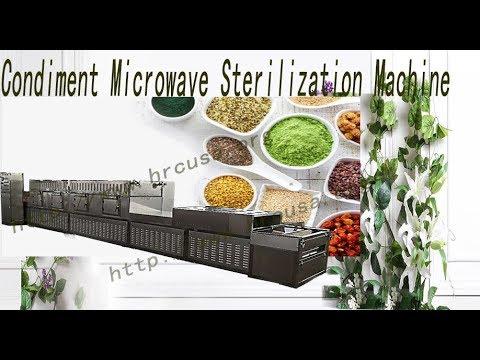 Condiment Sterilization Machine ,Industry Microwave Sterilization Equipment