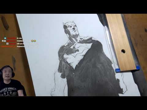 BATMAN! HOW TO DRAW FEET TUTORIAL! BLACK MANTA! --Art Stream with Jim Lee