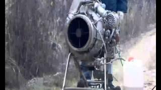 Запуск газотурбинного двигателя (ГТД) 9И56