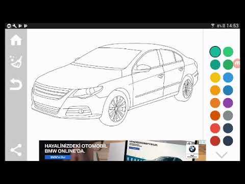 Araba Boyama Oyunu Oynuyorum Youtube