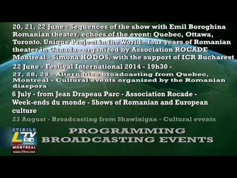 LTVro Canada - Publicity - Broadcasting Events - June, July, August 2014