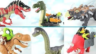 Real Dinosaurs Transformation Dinosaur Robot! T Rex, Brachiosaurus Toys~ Walking Dino For Kids.