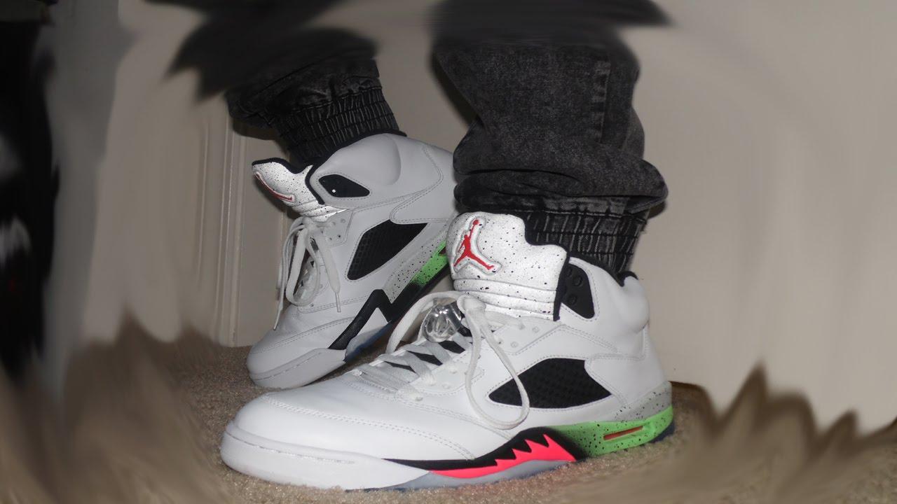 d41abe0abd01 Jordan Retro 5 ProStars On Feet - YouTube