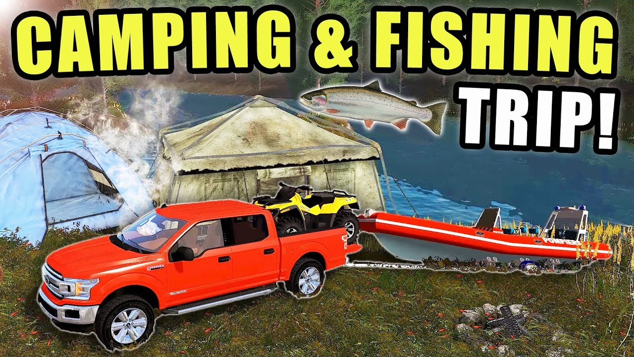 fishing-camping-weekend-trip-we-caught-some-trout-down-by-the-stream-farming-simulator-2017