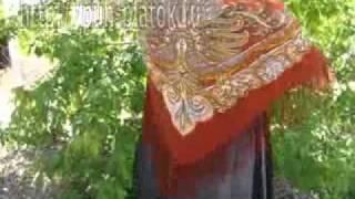 Now to tie a Pavlovo Posad Shawl Scarf Scarves Headscarf(, 2010-08-19T09:20:28.000Z)