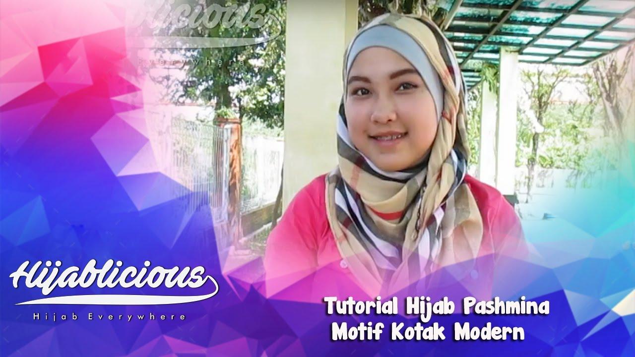 Hijablicious Tutorial Hijab Pashmina Motif Kotak Modern YouTube