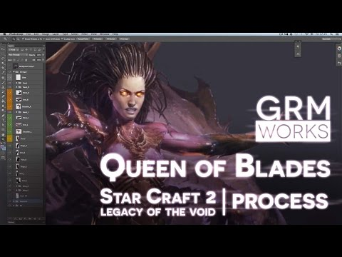 Queen of Blades - Animated Art Process