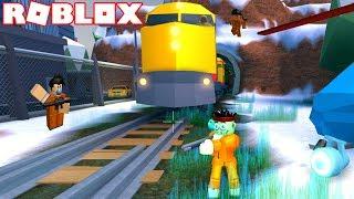 Roblox - ROBLOX JAILBREAK TRAIN UPDATE !!! (ROBBING THE TRAIN IN ROBLOX JAILBREAK AND THE BANK)